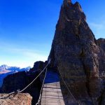 Ferrata delle Trincee suspension bridge