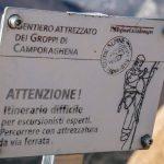 Groppi Camporaghena Monte Alto cartello inizio