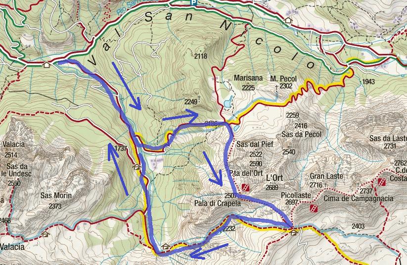 Aided Path Itinerary Gino Badia
