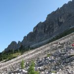 Trail 117 in the direction of the Forcella Misurina
