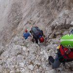 Sentiero Attrezzato Gusella 11 verso forcella stephen