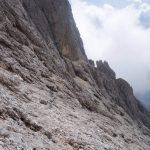 Sentiero Attrezzato Gusella 16 verso forcella stephen