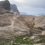 Sentiero Attrezzato Gusella 2 verso passo val di roda