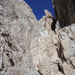 Sentiero Attrezzato Gusella 31 verso forcella stephen