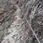 Sentiero Attrezzato Gusella 8 verso passo di ball