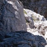Sentiero Attrezzato Leva 27 canalino