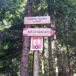 Sentiero Jau Tana 15 avvicinamento cartello