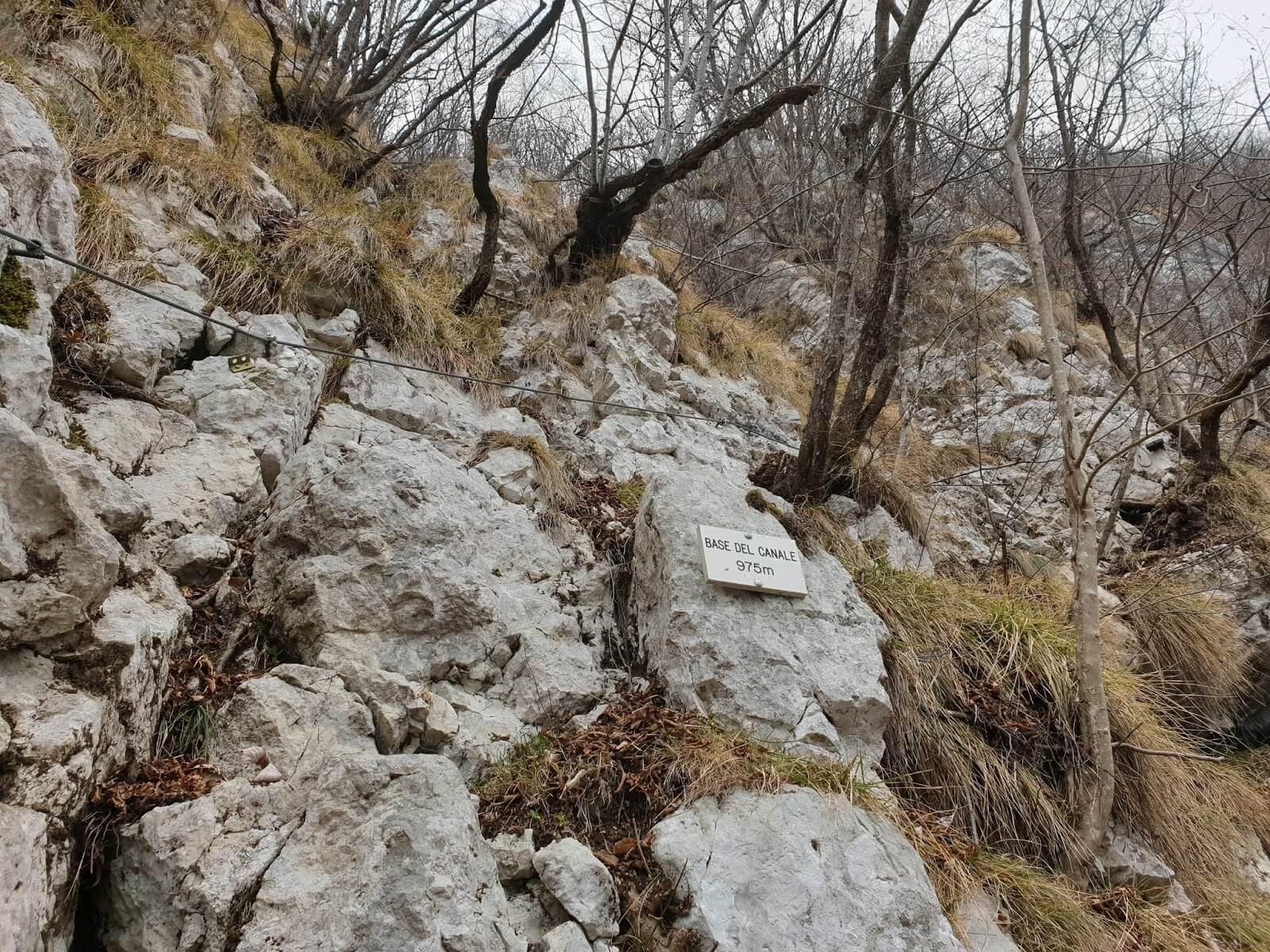 Sentiero Pierino Zuanna Base del Canale