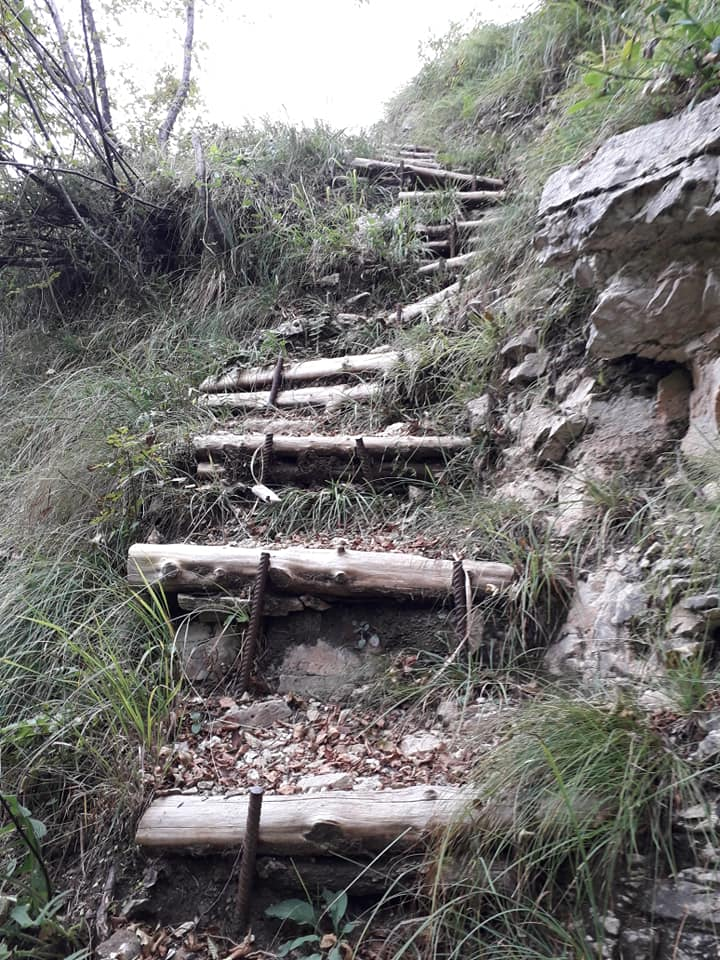 Sentiero Pierino Zuanna Val Brenta lungo avvicinamento 2