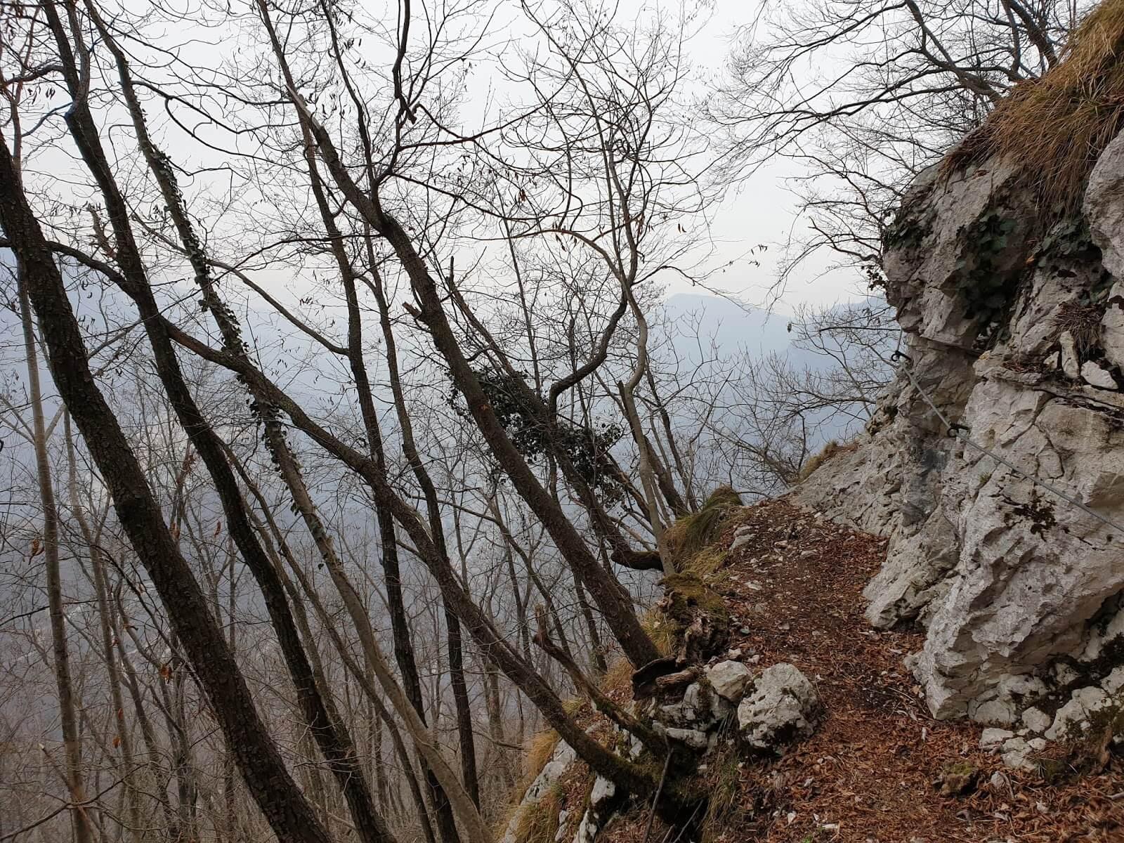 Sentiero Pierino Zuanna cengia attrezzata