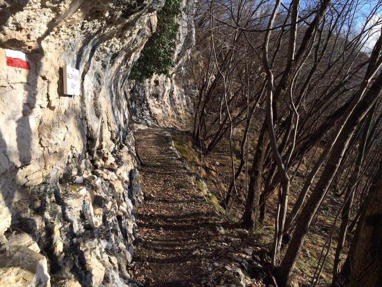 Sentiero Pierino Zuanna cengia galleria